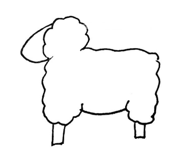 儿童学画可爱的绵羊简笔画步骤教程 绵羊如何画