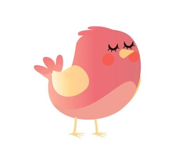 8款可爱的卡通小鸟简笔画彩色图片 小鸟的简单画法大全