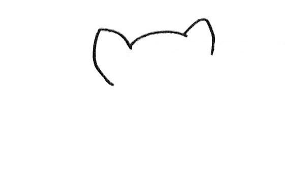 儿童学画可爱龙猫简笔画步骤教程 卡通龙猫的简单画法