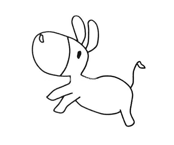 4款可爱的毛驴简笔画图片 卡通毛驴的简单画法大全