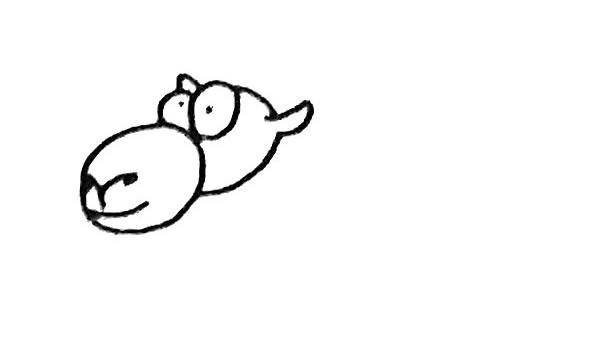 儿童学画骆驼简笔画步骤教程 骆驼的简单画法