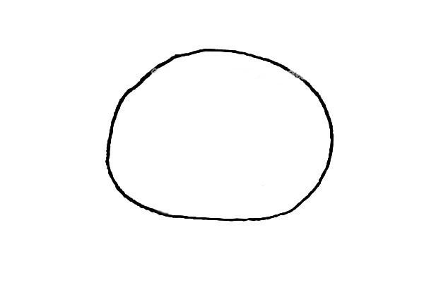 儿童学画轻松熊简笔画步骤教程 轻松熊的简单画法