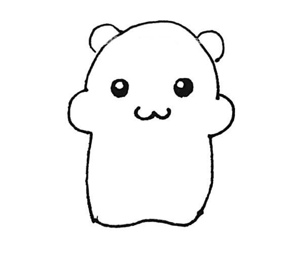 儿童学画可爱的仓鼠简笔画步骤教程 仓鼠的简单画法