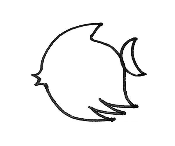 儿童学画热带鱼简笔画步骤教程 热带鱼的简单画法