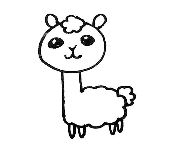 儿童学画羊驼简笔画步骤教程 羊驼的简单画法
