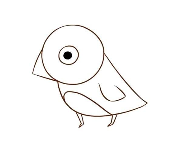 儿童学画麻雀简笔画步骤教程 麻雀的简单画法