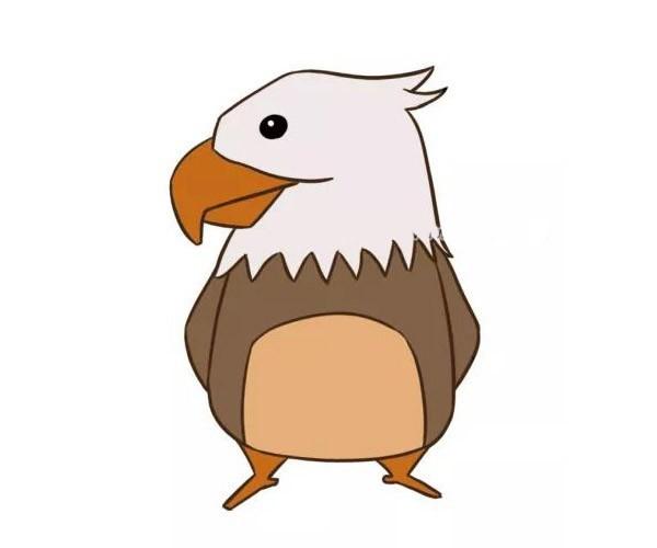四款卡通老鹰简笔画图片 卡通老鹰的简单画法大全