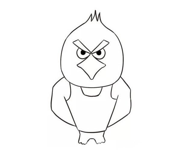 儿童学画卡通老鹰简笔画步骤教程 卡通老鹰的简单画法