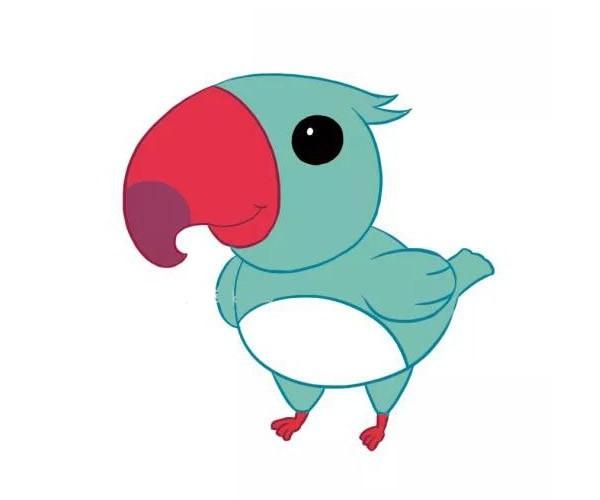 四款卡通啄木鸟简笔画图片 卡通啄木鸟如何画