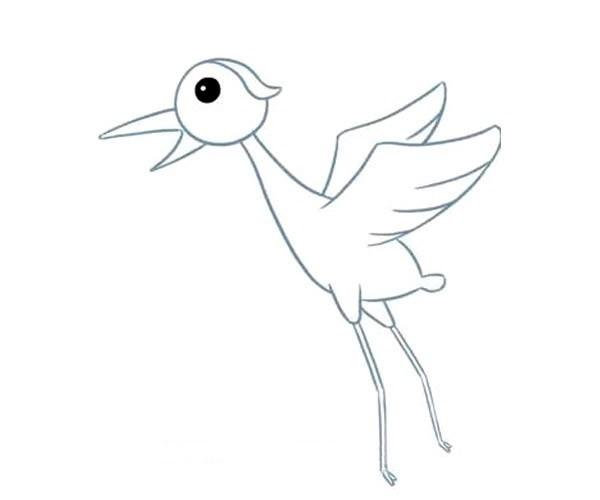 儿童学画仙鹤简笔画步骤教程 仙鹤的简单画法