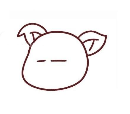 可爱的卡通小猪简笔画步骤教程 卡通小猪的简单画法