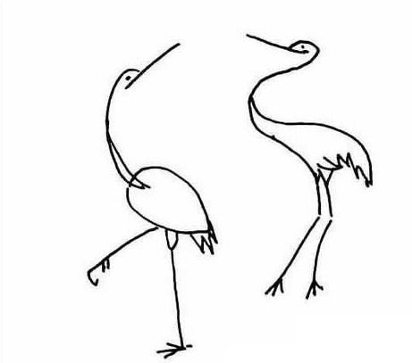 几款仙鹤简笔画图片 仙鹤的简单画法大全