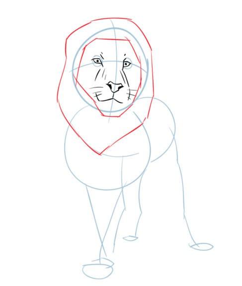 儿童学画卡通狮子简笔画图解 狮子如何画,如何画狮子