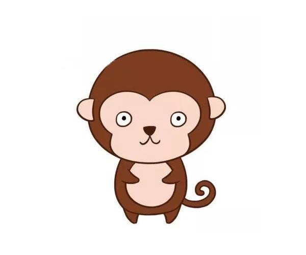 呆萌可爱的猴子简笔画图片