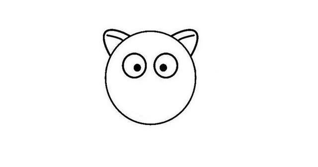 儿童学画小红猪简笔画步骤画法教程