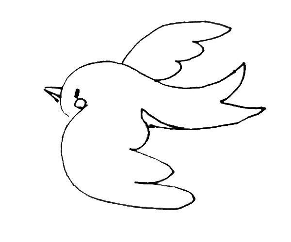燕子的简单画法 儿童学画漂亮的燕子简笔画步骤教程
