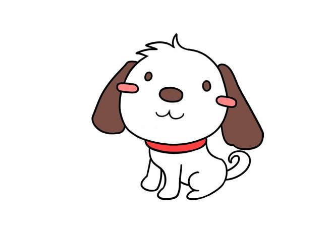 活波可爱的小狗简笔画步骤教程 可爱的小狗如何画