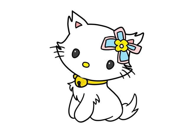 可爱的猫咪简笔画步骤图解教程 可爱的小猫简单画法