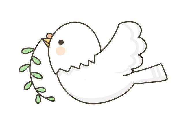 可爱的鸽子画法 儿童学画可爱的鸽子简笔画教程