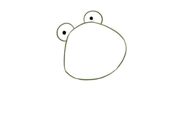 【青蛙简笔画】简单六步画出害羞的青蛙简笔画步骤教程