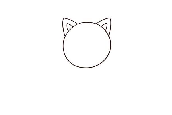 【小猫简笔画】简单六步画出小猫咪简笔画步骤教程