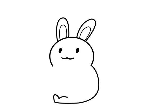 【兔子胡萝卜简笔画】小兔子背着胡萝卜简笔画步骤图教程