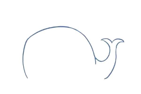 【鲸鱼简笔画教程】可爱的鲸鱼简笔画步骤图解