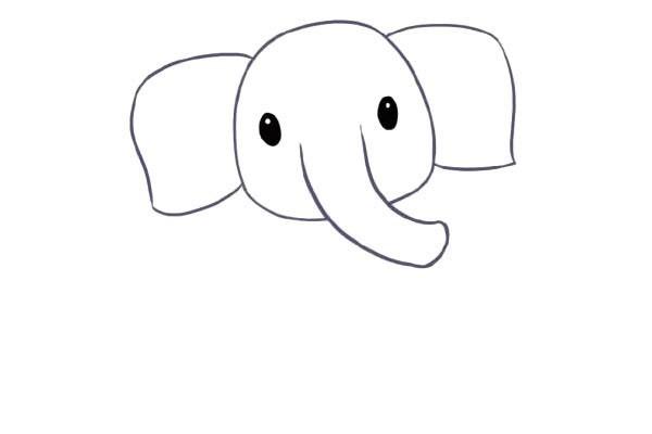【大象简笔画教程】可爱的大象简笔画步骤图解