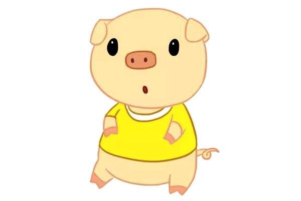【卡通小猪简笔画】三张卡通小猪简笔画图片大全