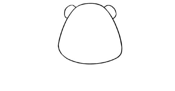 【大熊猫简笔画】可爱的卡通大熊猫简笔画步骤教程
