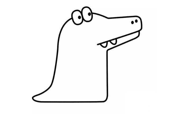 【鳄鱼简笔画】儿童卡通鳄鱼的简笔画步骤教程
