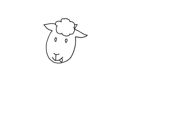 【小羊简笔画】欢快的小羊简笔画步骤图解教程