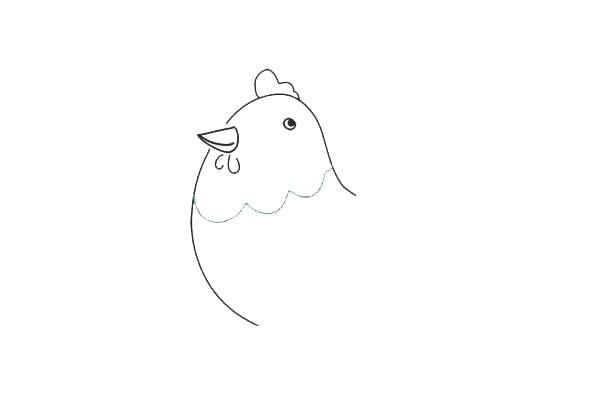 画母鸡简笔画步骤图教程 简单的母鸡画法大全