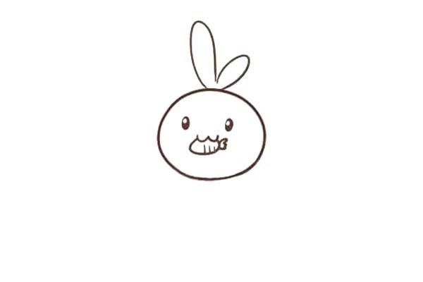 画吃胡萝卜的兔子简笔画步骤图教程 兔子胡萝卜简笔画