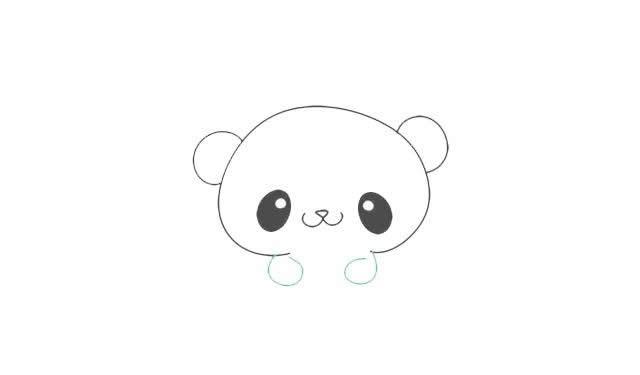 憨厚可掬的小熊猫 简单又好画