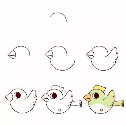 8款萌萌的小鸟简笔画步骤图解 都是你喜欢的