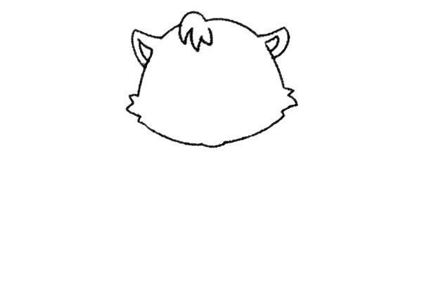 开心的小猫咪简笔画 图文教程