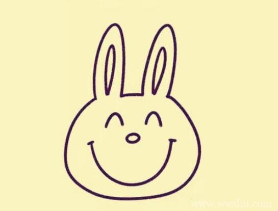 超萌的卡通小兔子简笔画步骤图解教程