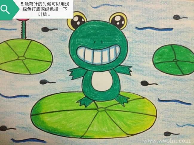 幼儿学画青蛙简笔画的画法教学
