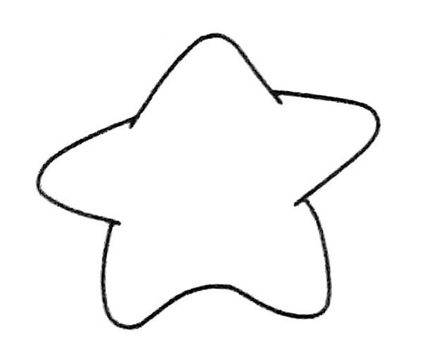 儿童学画卡通海星简笔画步骤图解 海星如何画