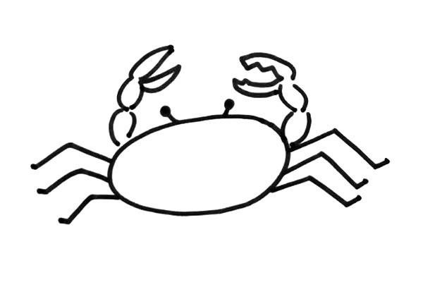 鱼虾蟹海洋生物简笔画图片大全 喜欢就收藏