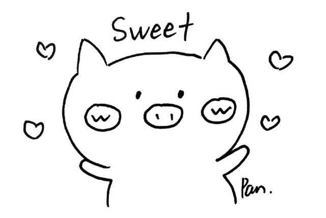 可爱的小猪表情包简笔画素材大全