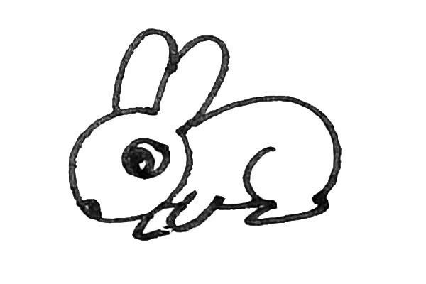 轻松学画小兔子简笔画步骤图解教程