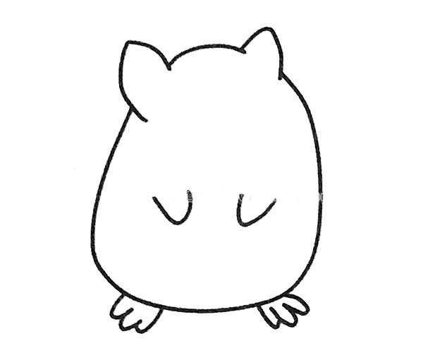 龙猫简笔画步骤图解教程及图片素材