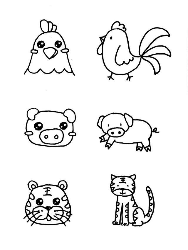 18种小动物简笔画图片素材大全
