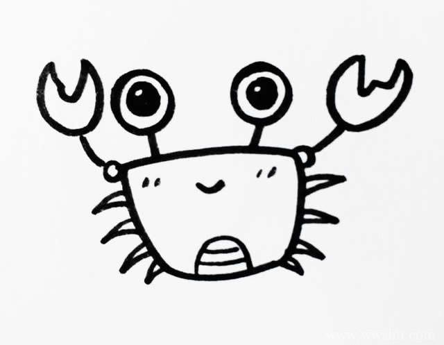 九个卡通海洋生物简笔画图片素材,快来抱走~