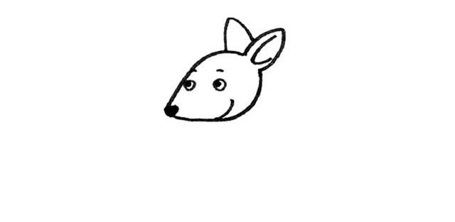 九步画出可爱的袋鼠简笔画步骤图片教程