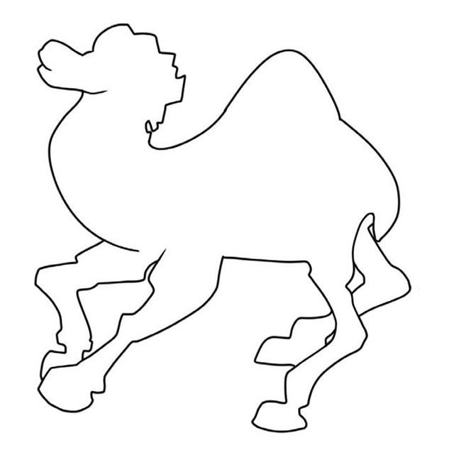 骆驼简笔画步骤图 简单画法