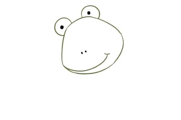 卡通青蛙简笔画步骤图片教程