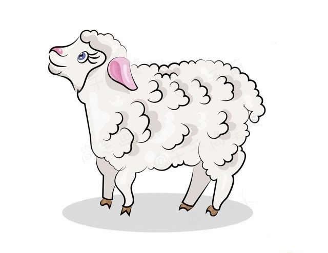 各种各样的山羊绵羊简笔画 快为孩子收藏吧!
